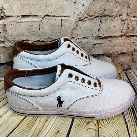 Polo Ralph Lauren Mens No Lace Sneakers